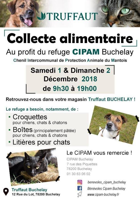 Collecte TRUFFAUT, Buchelay 01 et 02 décembre 2018