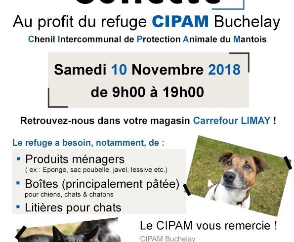 Collecte CARREFOUR, Limay Samedi 10 novembre 2018