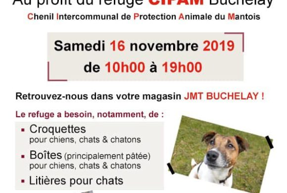 COLLECTE chez JTM (ex Halle aux Chaussures, ZAC Buchelay) samedi 16 novembre
