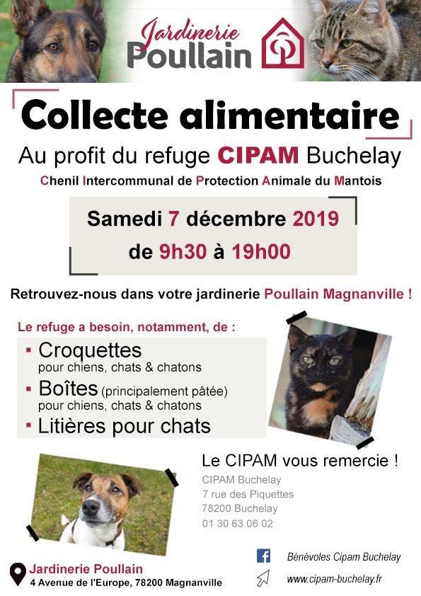 Collecte chez POULLAIN, Magnanville et TRUFFAUT, Buchelay
