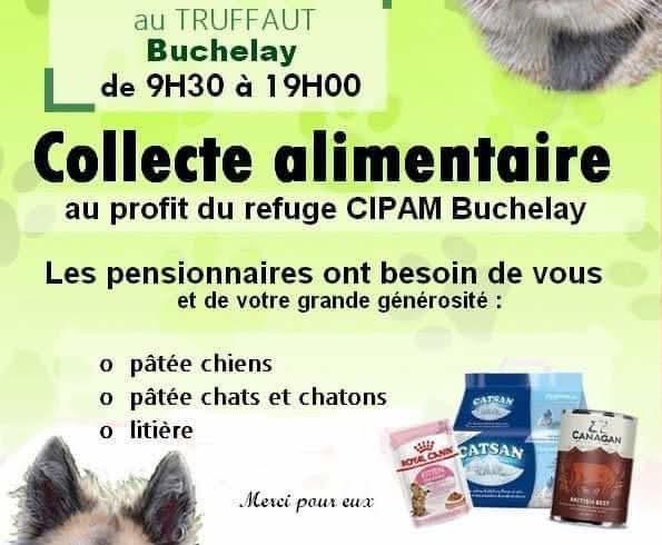 Collecte chez TRUFFAUT, Buchelay SAMEDI 29 FEVRIER 2020
